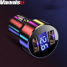 Dual USB car charger 3.1A digital LED display Car charger for Xiaomi iphone smartphone