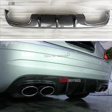Автомобильный Стайлинг для Mercedes-Benz SLK class R171 2005-2010 крышка заднего бампера из углеродного волокна задний спойлер задняя защита выхлопного отверстия