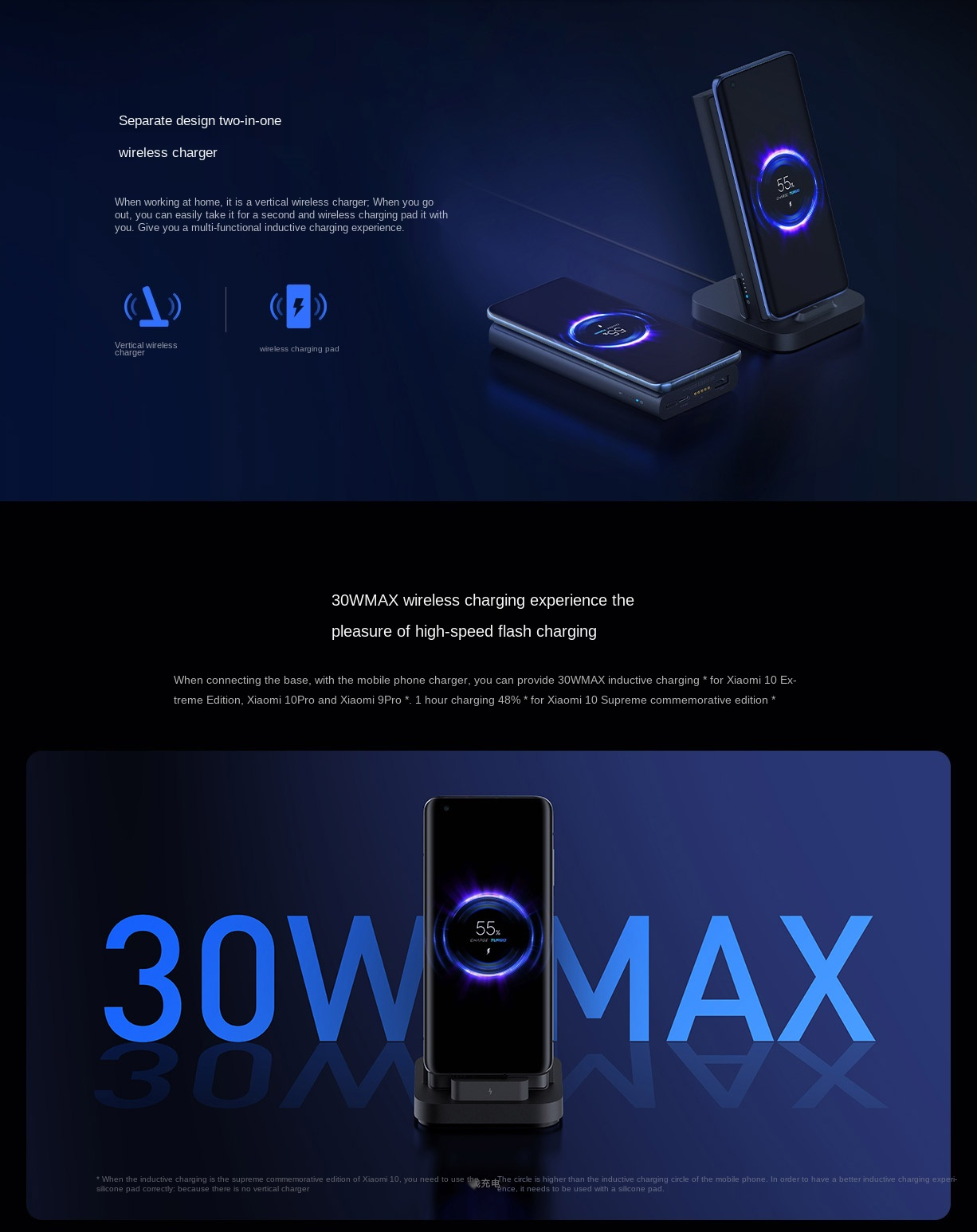 Power Bank de 10000 mAh con carga inalámbrica Xiaomi