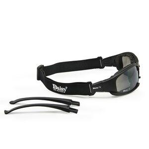Image 5 - Übergang Photochrome Polarisierte Daisy X7 Military Brille Armee Sonnenbrille 4 Objektiv Kit Krieg Spiel Taktischen männer Gläser Sport