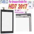 7,0 ''для Amazon Kindle Fire HD7 HD 7 2017 планшетный ПК сенсорный экран дигитайзер панель сенсор с бесплатными инструментами и клеем
