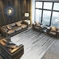 Лаконичные черно-белые ковры для гостиной  современная домашняя спальня  диван  журнальный столик  коврик для учебы  обеденный большой кове...