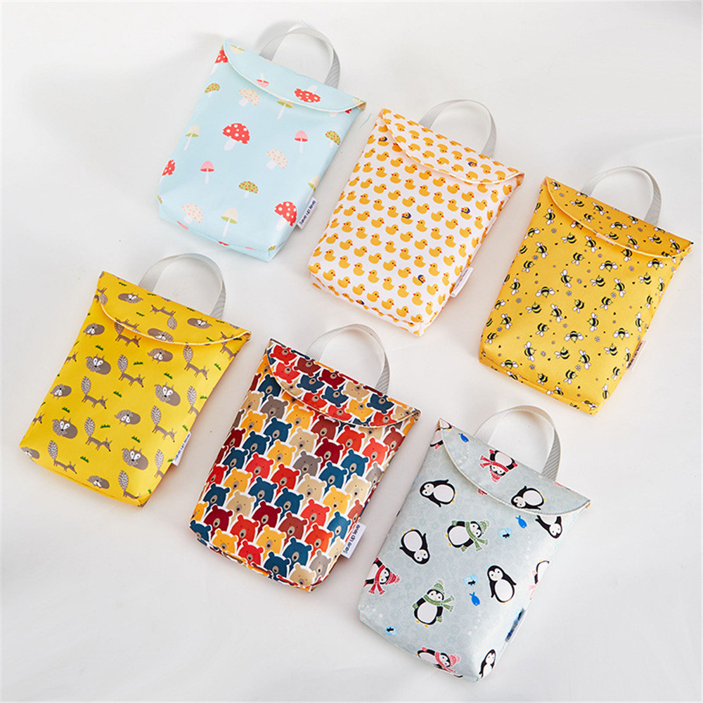 Baby Diaper Storage Bag Diaper Bag Portable Waterproof Portable Diaper Storage Bag Mother Organizer Reusable Mummy Storage Bag