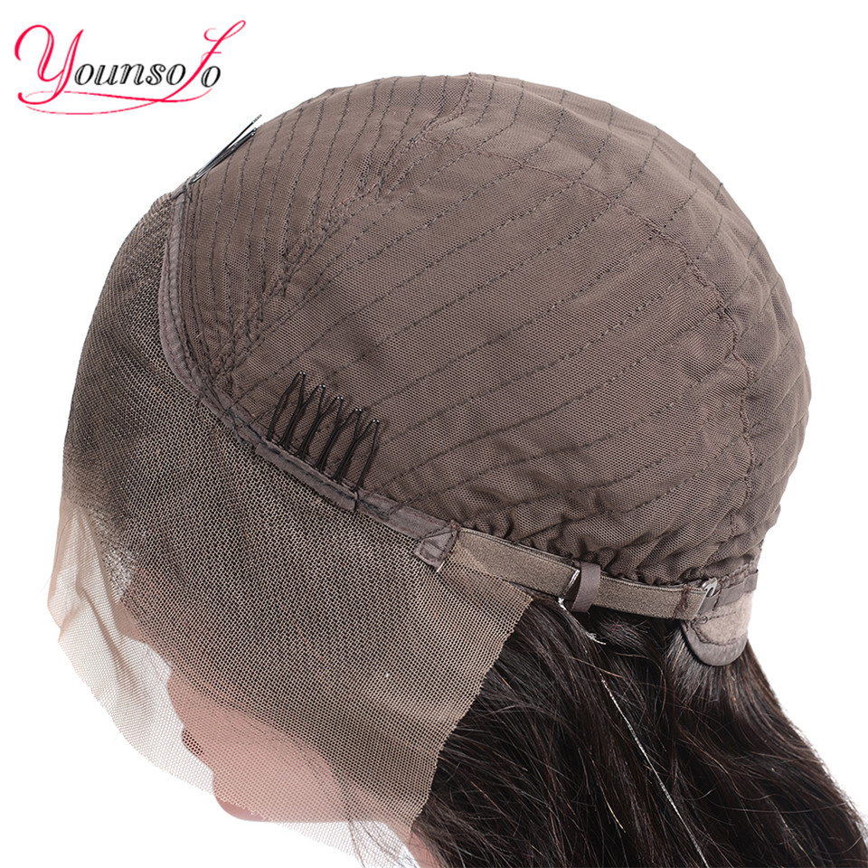H979816e7e095449ea7c442c8be022f40G Younsolo 13x4 Lace Front Human Hair Wigs For Black Women Remy Brazilian Water Wave Lace Front Wig Pre Plucked With Baby Hair