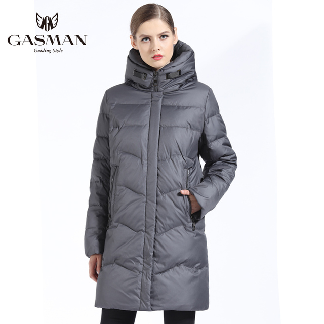 GASMAN 2019 Women Winter Jacket Down Long Female Winter Thick Coat For Women Hooded Down Parka Warm Clothes Plus Size 7XL 6XL