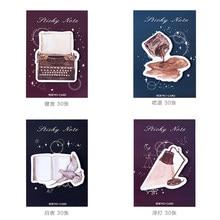 30 sztuk/paczka Retro w krótką piosenkę kartki samoprzylepne N razy DIY notatnik Notebook naklejki etykiety notatki szkolne materiały biurowe