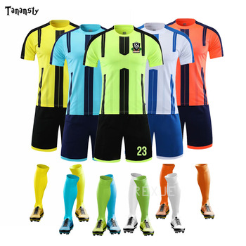 2020 New Soccer Jerseys Mens Football Jersey Training suit Kids custom blank Suits Youth Team Uniforms Sets high quality Kits19 long sleeve soccer sets football jerseys and pants and jacket tracksuit training suit kids to adult football custom uniforms
