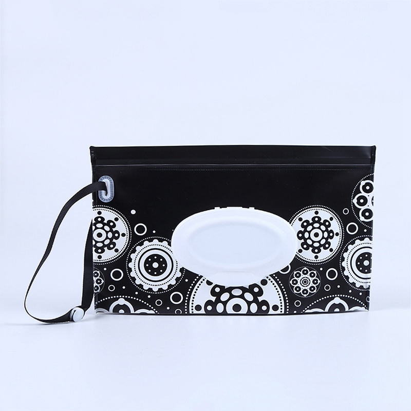 Детская сумка для влажных салфеток, тонкая бумажная практичная сумка для путешествий, портативный клатч, чехол для переноски, многоразовый, экологичный, сумка - Цвет: 6