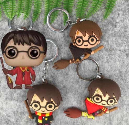 Llavero 3D HP Potter PVC juguete Hermione Dobby Snape Ron Malfoy DUMBLEDORE Voldemort figura de acción juguetes fiesta Cosplay llavero