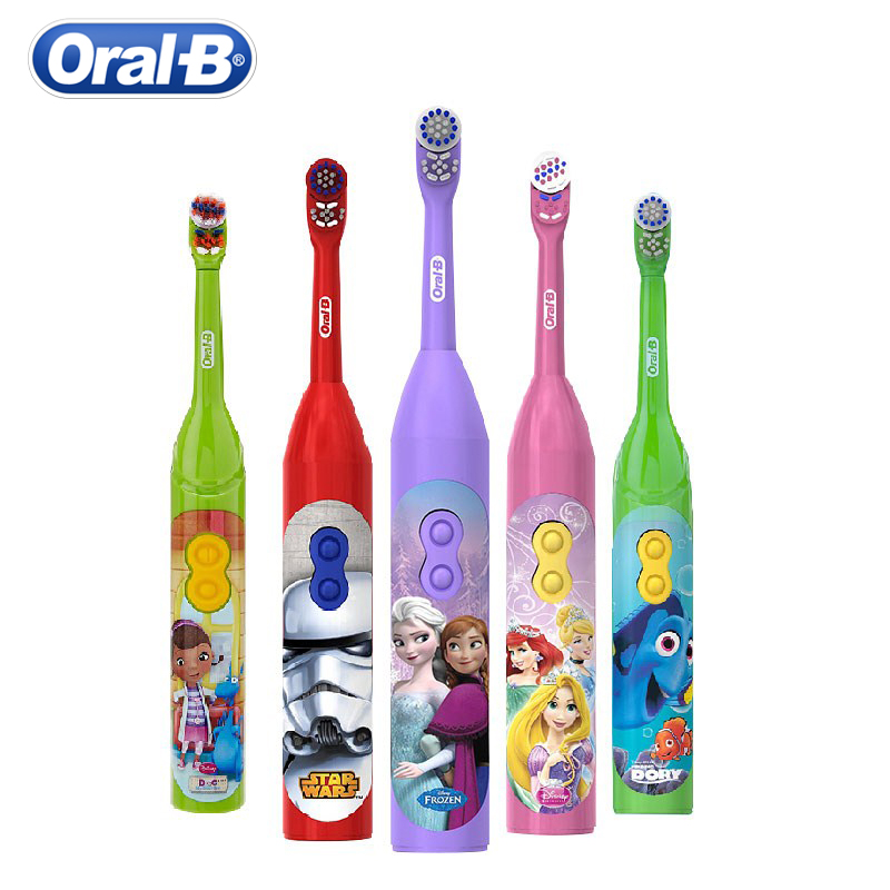 oral b escova de dentes eletrica para o miudo 3 dentes limpo goma cuidados mancha remover