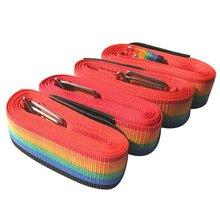 Радужный багажный чемодан с защитным замком, перекрещивающиеся ремни с пластиковой пряжкой из полипропиленовой ленты, устойчивые для багажа, ремни для чемодана