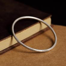 Bracelet For Woman 100% 925 Sterling Silver Jewelry Round Retro Fish Pattern Thai Silver Bracelet Anniversary Party Gift