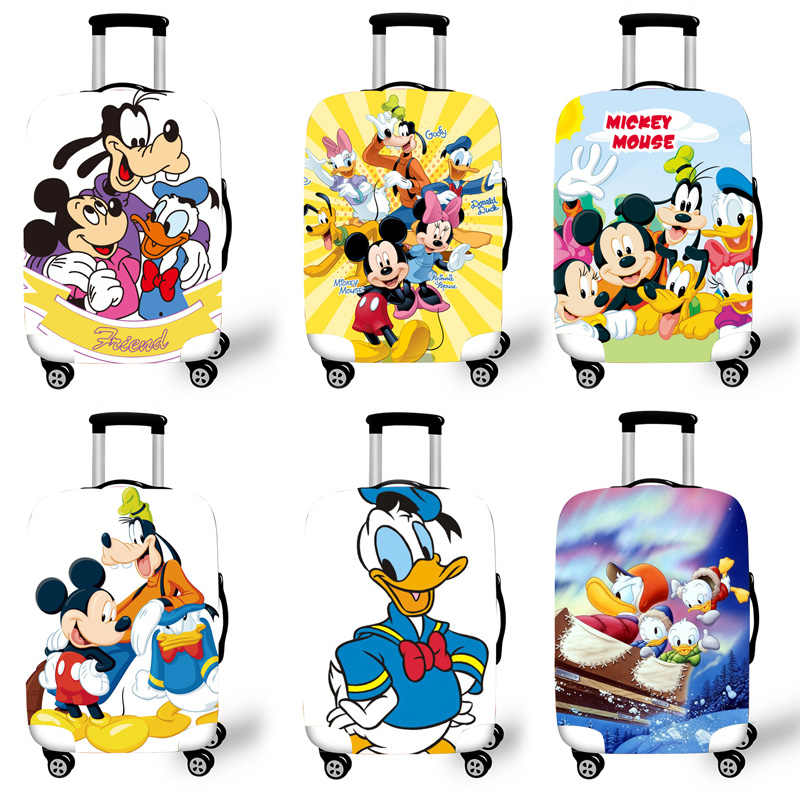 Elastic Luggage Protective Cover Case For Suitcase Protective Cover Trolley Cases Covers 3D Travel Accessories Mickey Pattern T8