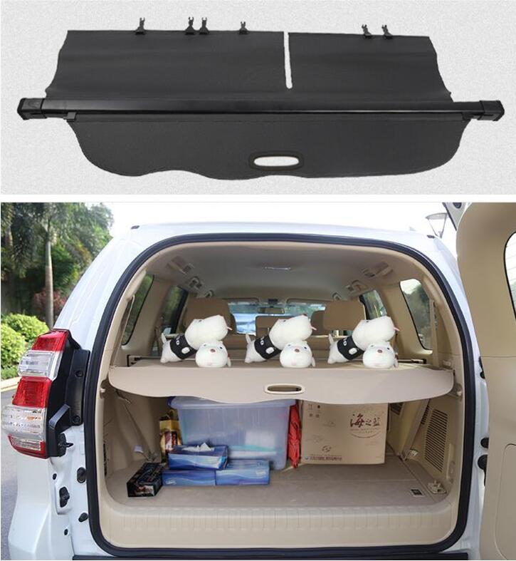 High Qualit Trunk Security Screen Privacy Shield Cargo Cover For Toyota Land Cruiser Prado LC150 FJ150 <font><b>150</b></font> 2010-2020 image