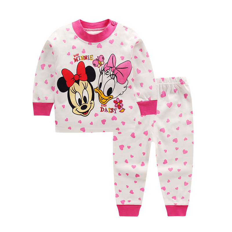 Toddler Kids Mickey Nightgown Children Girls Boys Infant Casual Baby Clothing Sleepwear Robes Nightwear Home Thermal Pajama Sets