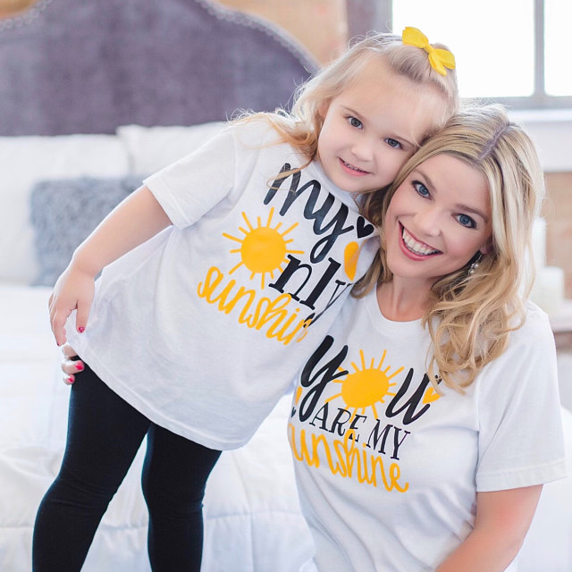 My Only Sunshine Mommy and Me Shirts Pretty Mother Daughter Tees You Are My Sunshine Cute Mom and Me Matching Tshirts