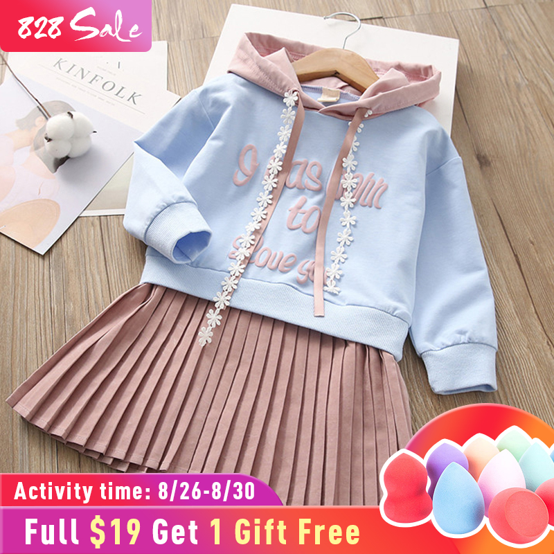 Children Dress Pocket Baby Clothes Pattern Girls American-Style Long-Sleeve European
