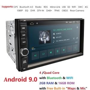 2G RAM Android 9.0 Auto Radio