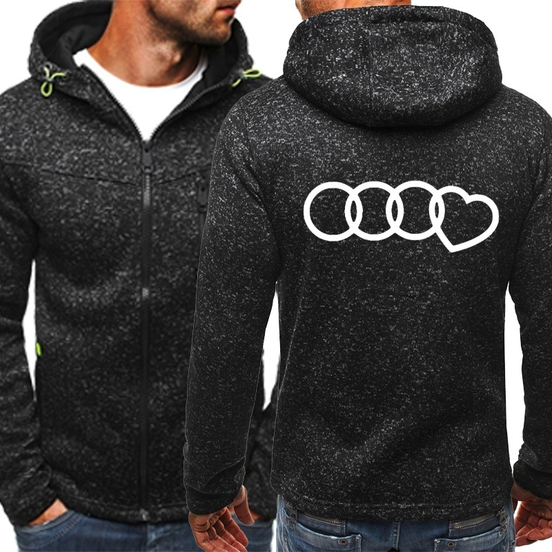 zíper fino hoodie casaco masculino casual manga