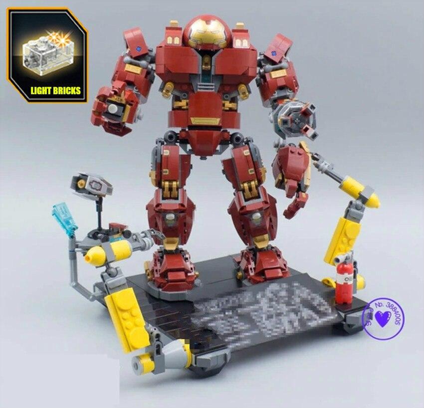 Super Heroes Hulkbuster Infinity War Endgame Avengers Marvel Iron Man Anti Hulk Building Bricks Blocks 76105