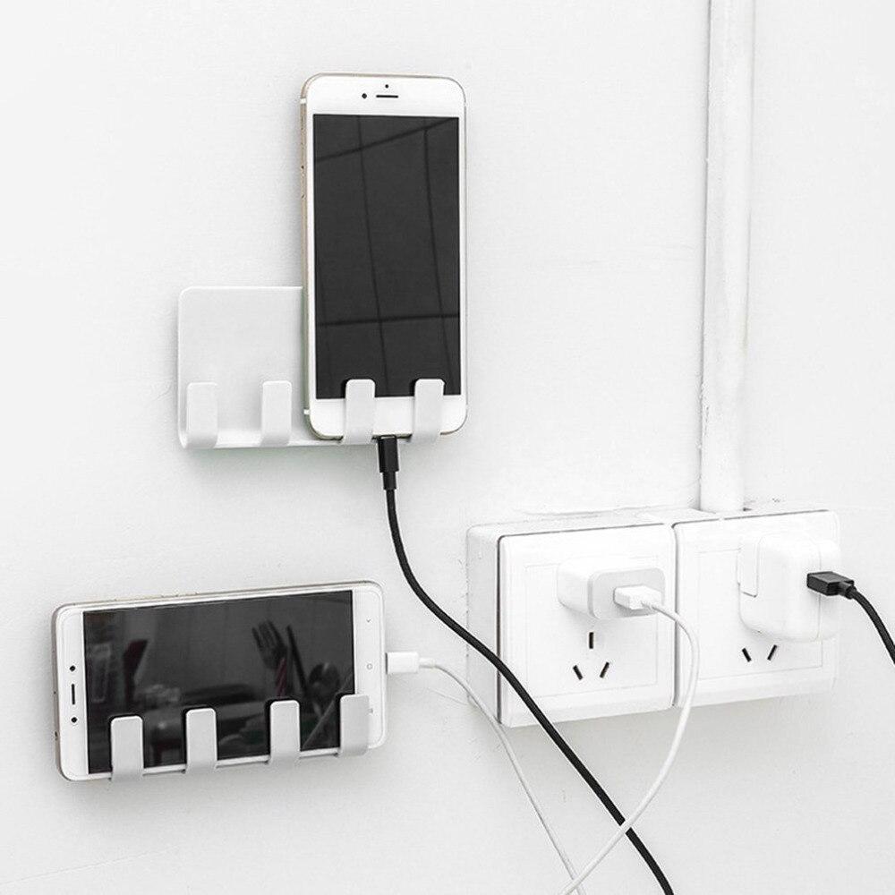 Portable Phone Wall Charger Hook Holder Hanging Stand Bracket Support Charge Hanger Rack Shelf Mobile Phone Hook