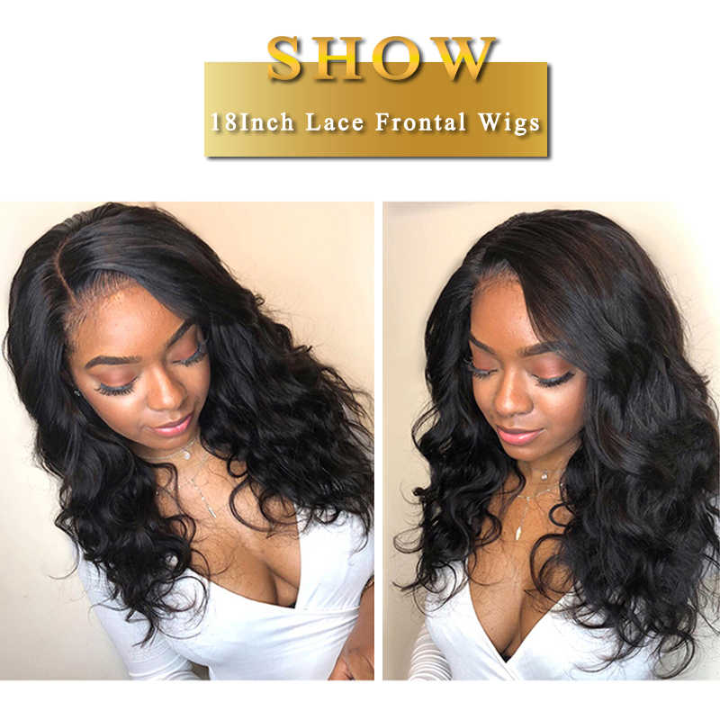 Body Wave Lace Frontal Wig Lace Front Human Hair Wigs With Baby Hair Pre Plucked 13x4 Brazilian Human Hair Wigs Non Remy Wig