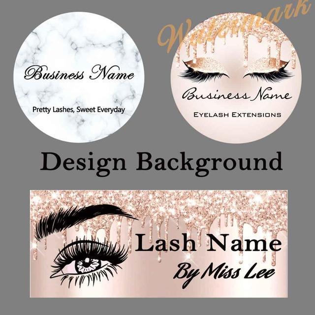 200 stücke Hintergrund Papier Design und Druck für Private Logo Professional Kunden Service für Wimpern Fall