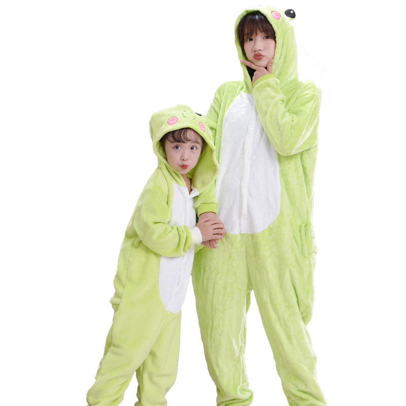Green Frog Jumpsuit Animal Anime Cosplay Costumes Suits Boys/Girls Kids/adult Party Clothes Halloween Children's Day Gift 4