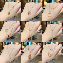 Ожерелье из титановой стали, маленькая цепь в Корейском стиле, элегантное Двухслойное ожерелье до ключиц, цвет красный, Ins