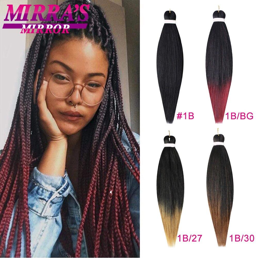 Мирра зеркало легко предварительно растянуты Jumbo плетение волос 30*42*48