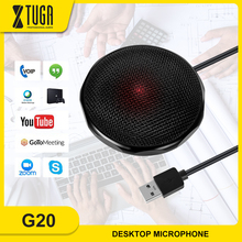 XTUGA USB Conference Microphone for PC Computer and Laptop with 360° Long Pick up
