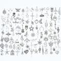 YuenZ 100 stücke Gemischt Stile tier Blatt Herz Schlüssel Crown Charms Anhänger DIY Schmuck für Halskette Armband Machen Mithelfer U050