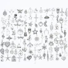 YuenZ 100 sztuk mieszane style zwierząt liść serce klucz korona Charms wisiorki/biżuteria do własnoręcznego wykonania dla naszyjnik bransoletka Making Accessaries U050
