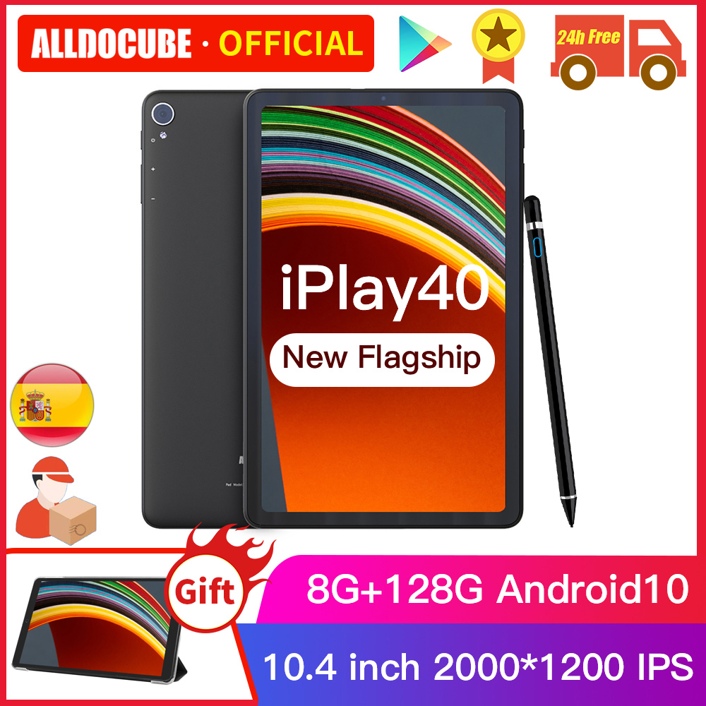 Alldocbe iplay40 10.4 polegada 2k fhd 2000*1200 8gb ram 128gb rom android 10 t618 cpu lte phonecall 5g wifi iplay 40