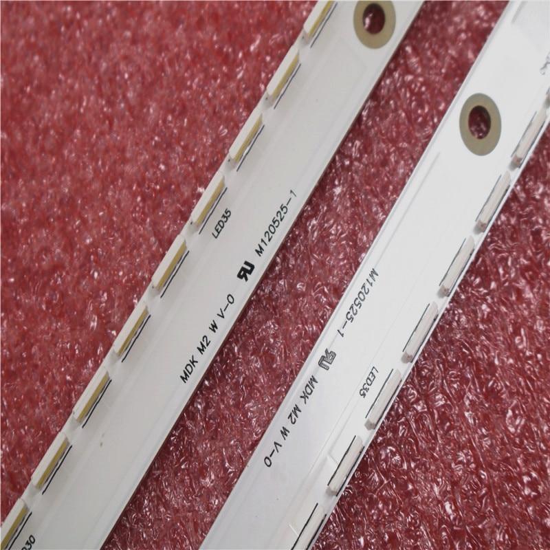 New Kit 2 PCS 56LED 500mm LED Backlight Strip For Samsung UA40ES6100J UE40ES5500 2012SVS40 7032NNB RIGHT56 LEFT56 2D Panel