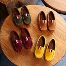 Korean Suede Baby Boys Shoes Non-Slip Soft Sole Children