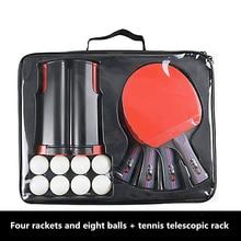 Four-Beat Eight-Ball With Telescopic Net Rack, Table Tennis
