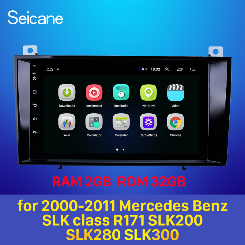 Seicane Android 8.1 Car Radio Unit Player GPS Navigation Stereo For 2000-2011 Mercedes Benz SLK Class R171 SLK200 SLK280 SLK300