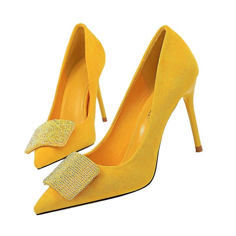 2020 Women 9.5cm High Heels Crystal