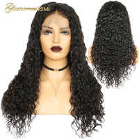 Curly Human Remy Hair Wig for black women Preplucked Natural Hairline lace front wigs with baby hair 13*4 Gluless Lace Wigs