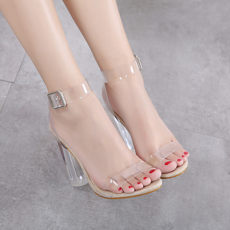 Sexy Transparent High Heels Pumps Women Shoes Ladies Party Shoes Woman High Heel Wedding Shoes Talon Femme Fgb56