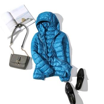 New Brand 90% White Duck Down Jacket Women Autumn Winter Warm Coat Lady Ultralight Duck Down Jacket Female Windproof Parka 16