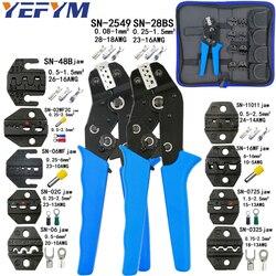 Ferramentas de friso alicate conjunto para xh2.54 pulg/tubular/tubo/terminais isolados SN-28BS SN-2549 8 kit maxila alicate prensagem elétrica