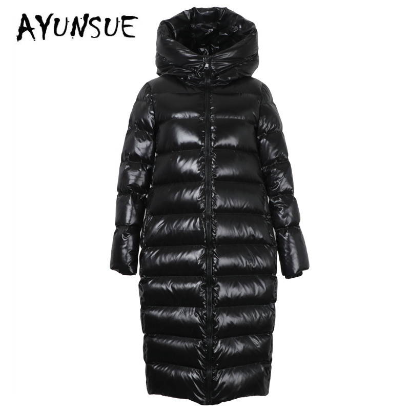 AYUNSUE Puffer Jacket Women 90% White Duck Down Coat Winter Coat Women Hooded Down Jacket Korean Jacket Casaco 18-158 YY1391