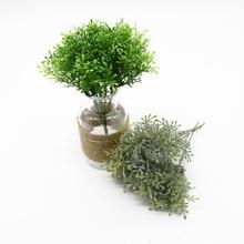 19 CM 6 Pieces Artificial plants Home decor Wedding Scrapbooking Holiday
