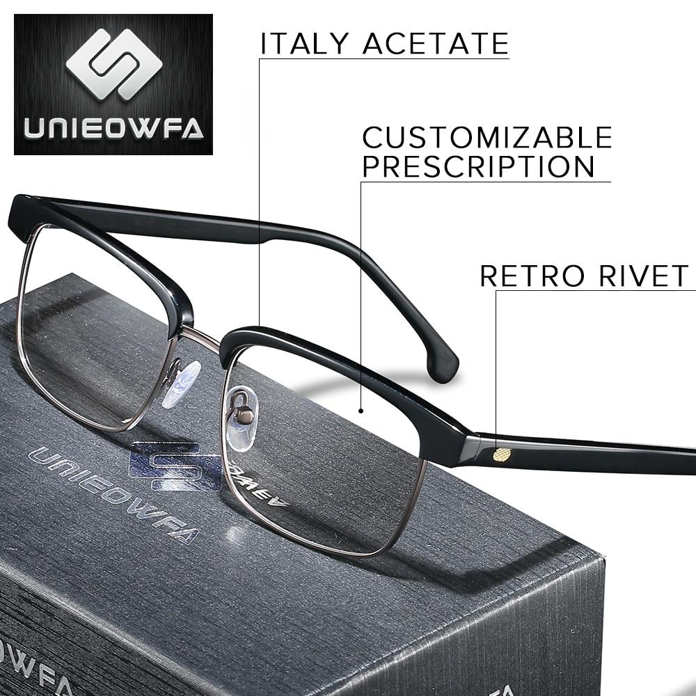 Europe High end Italy Acetate Retro Prescription Glasses Men Optical Bifocal Progressive Eyeglasses Myopia Clear Anti Blue Light