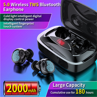 TWS Touch Control Bluetooth V5.0 Binaural Earphone aptx Lossless Noise Cancelling Headphones Wireless Earbuds 10h Music Time