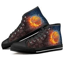 Custom image Basketball team logo 3D Print High Top Canvas Shoes