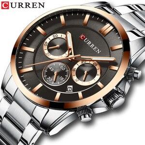 Image 1 - Reloj Hombresแบรนด์หรูCURREN Quartz Chronographนาฬิกาผู้ชายนาฬิกาสแตนเลสสตีลนาฬิกาอัตโนมัติวันที่