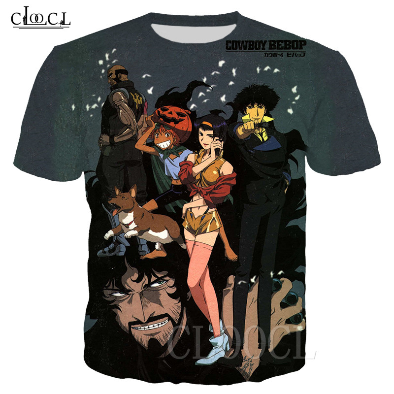 Cowboy Bebop Japanese Anime T Shirt Men Women 3D Print Spaceship Bebop T-shirts homme Casual Fashion Summer Tshirt Tee Pullovers